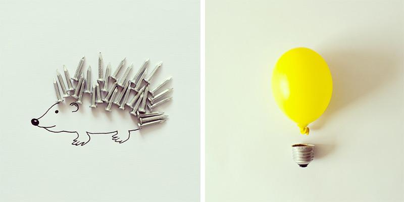 javier-perez-art-doodle-porcupine-bulb