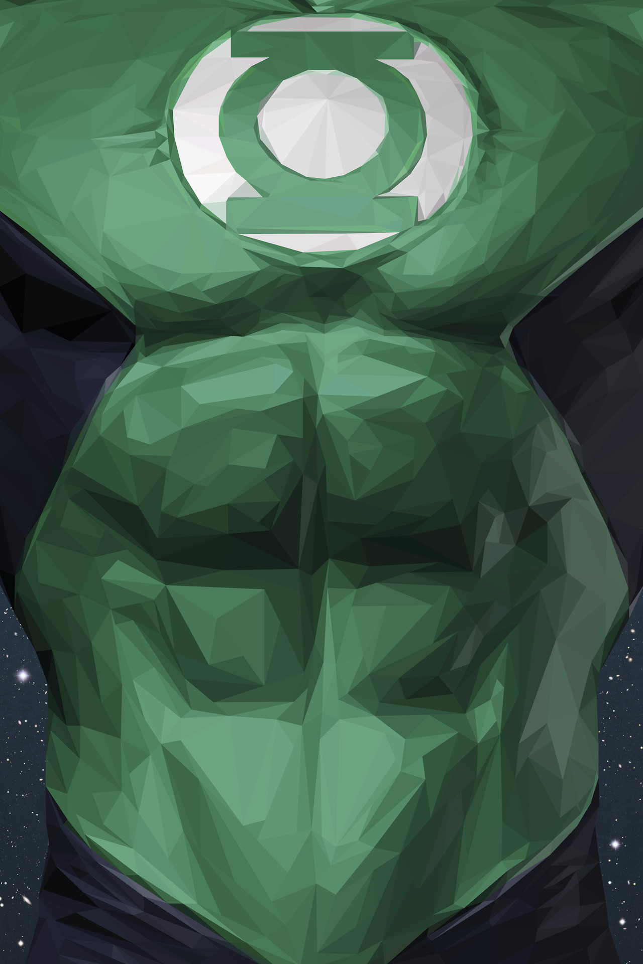 simon-delart-superhero-triangle-illustrations-green-lantern