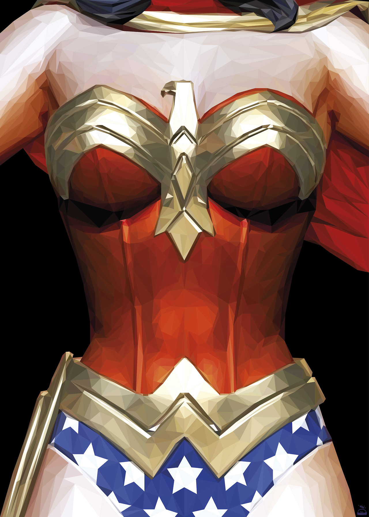 simon-delart-superhero-triangle-illustrations-wonderwoman