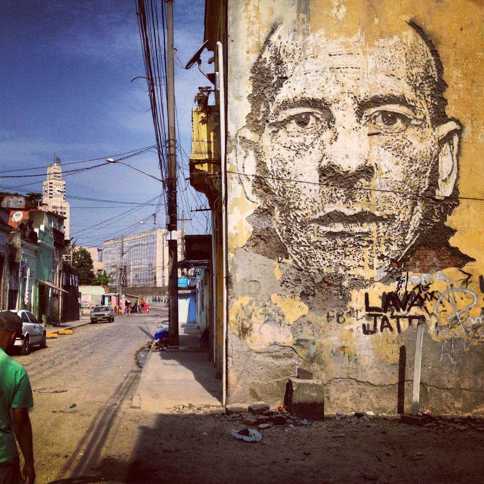 Vhils In Rio De Janeiro