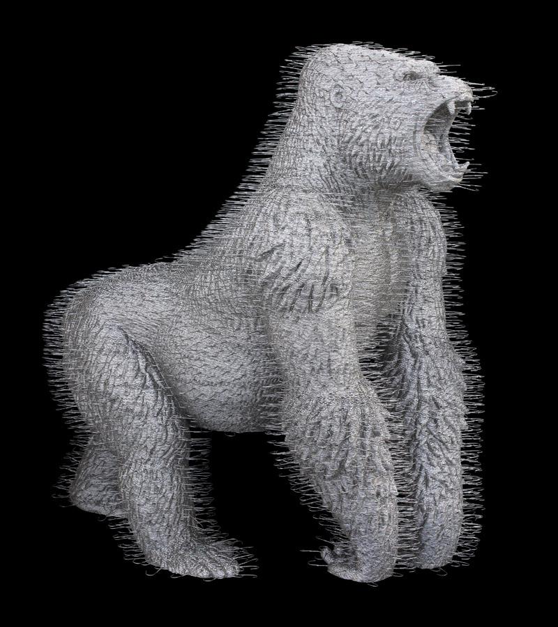 david-mach-coathangers-zurich-gorilla