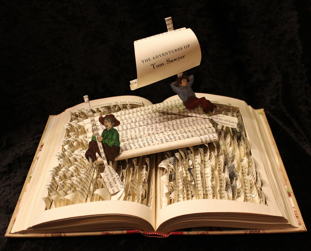 jodi-harvey-brown-book-sculptures-adventures-of-tom-sawyer