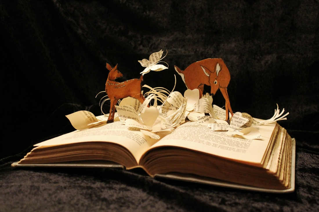 jodi-harvey-brown-book-sculptures-bambi