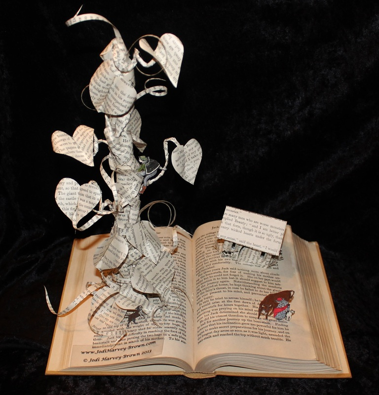 jodi-harvey-brown-book-sculptures-jack-and-the-beanstalk
