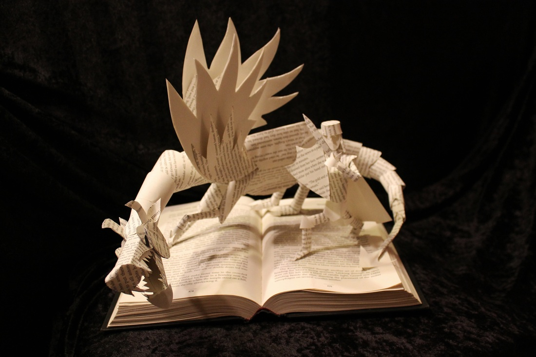 jodi-harvey-brown-book-sculptures-knight-and-dragon-ii