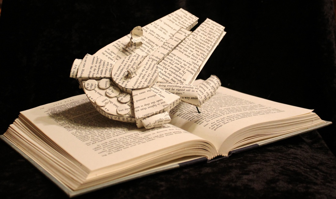 jodi-harvey-brown-book-sculptures-millennium-falcon