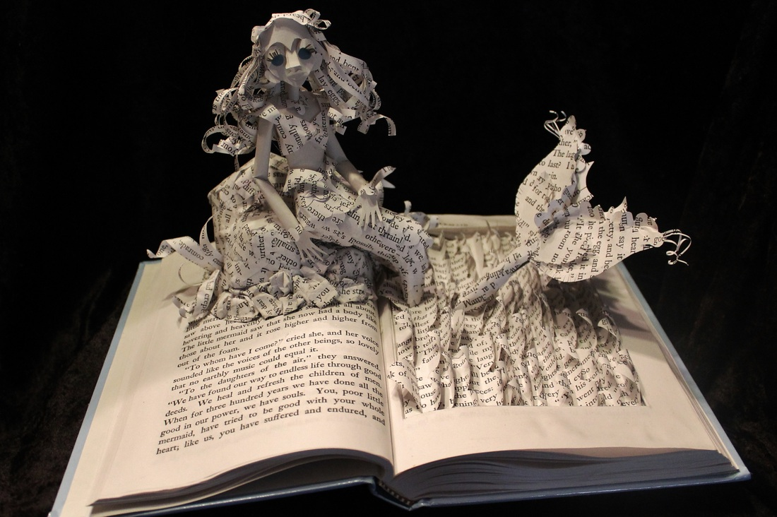 jodi-harvey-brown-book-sculptures-the-little-mermaid