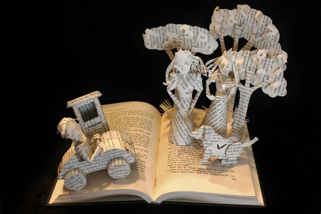jodi-harvey-brown-book-sculptures-the-panthom-tollbooth