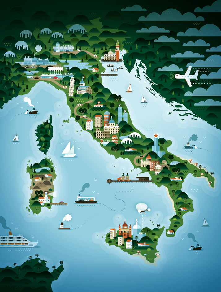 map-illustrations-khuan-ktron-italy