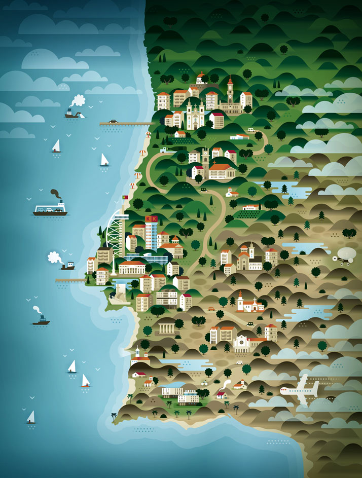 map-illustrations-khuan-ktron-portugal