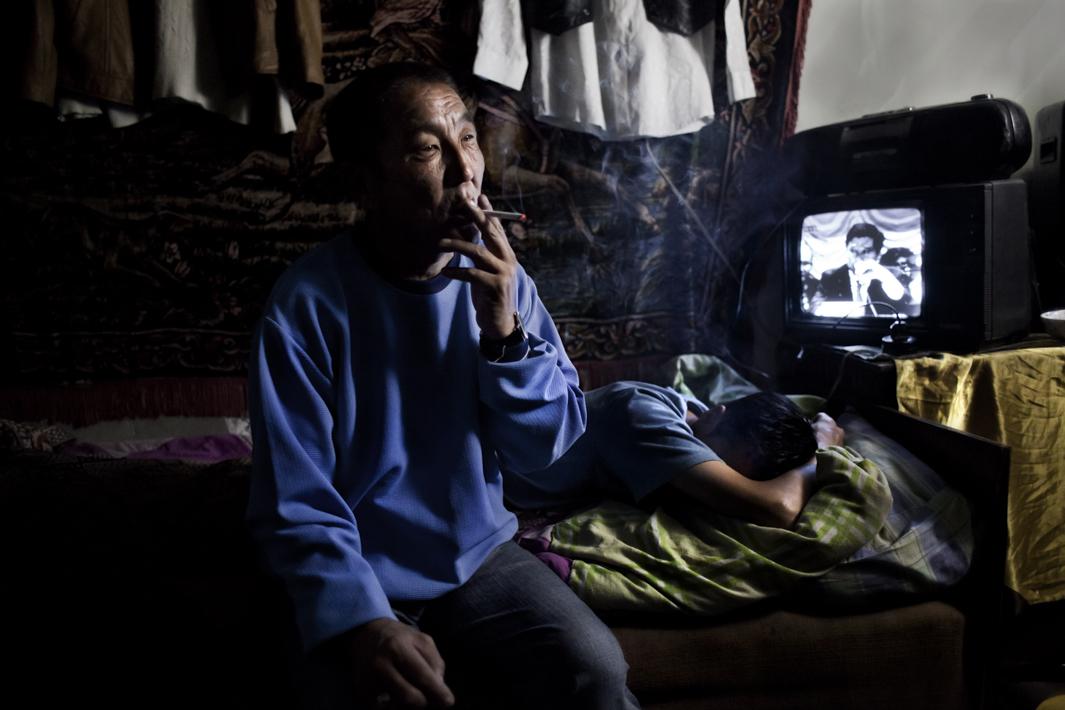 Baara, 55, lives in one of the poorest districts in Ulaanbataar.