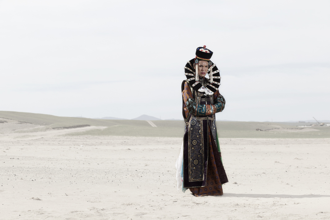 Naaram dressed in a traditional Mongolian queen dress.
