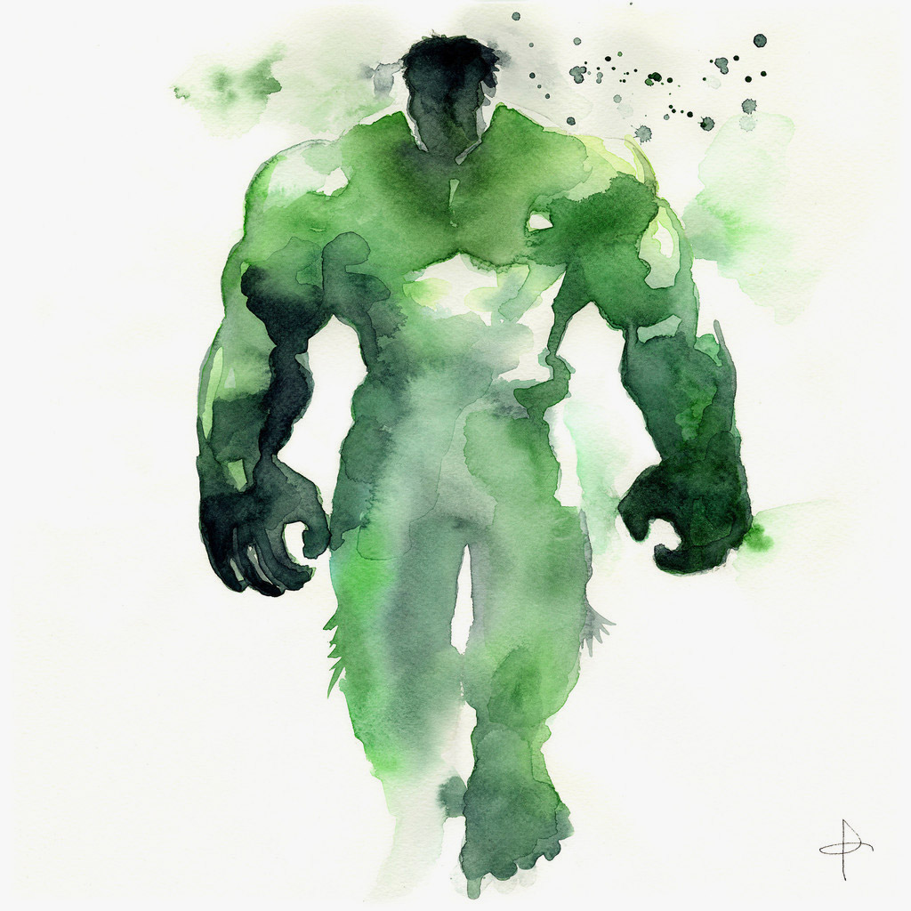 watercolor-superheroes