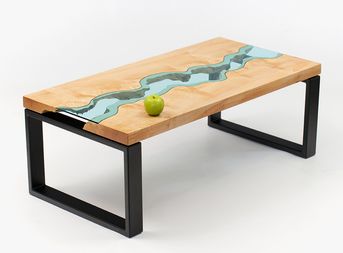 Lake and River Adorned Furniture of Wood and Glass  Lost in Internet