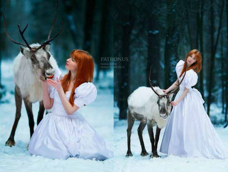 Russian Photographer Captures Fairytale Portraits With Animals - Photographer captures fairytale like portraits women animals