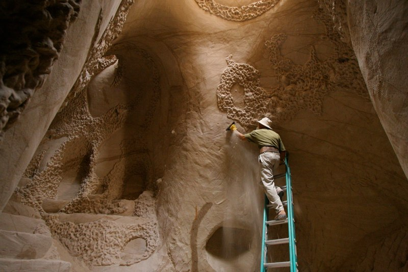 Man Cave Urban Years : Ra paulette has spent years carving designs in caves
