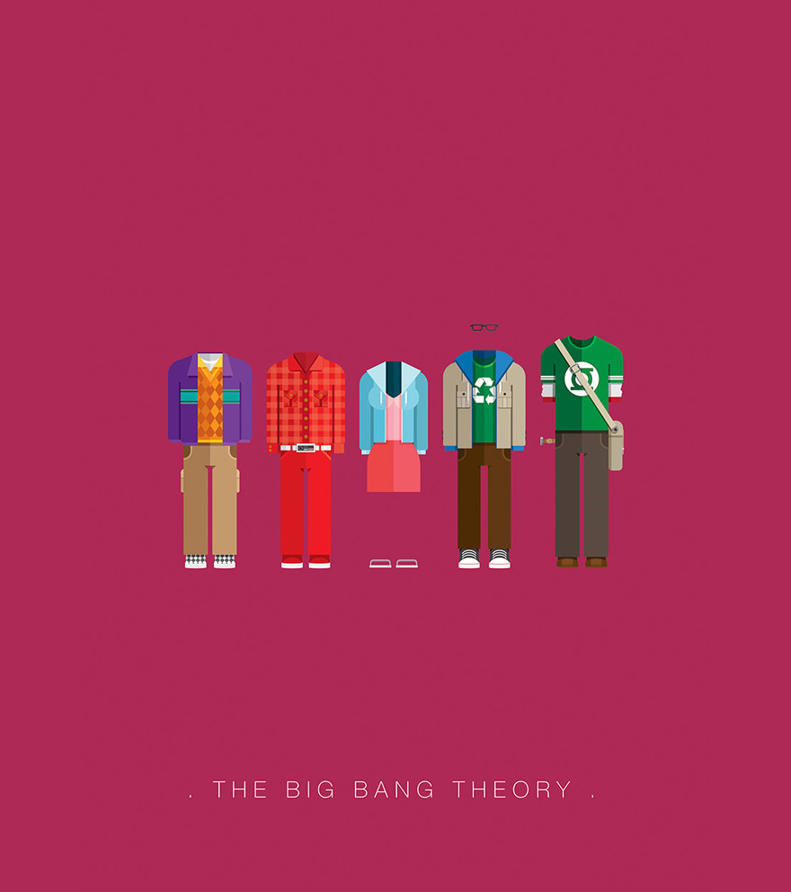 Minimalist movie posters defined by character outfits for Minimalist architecture theory