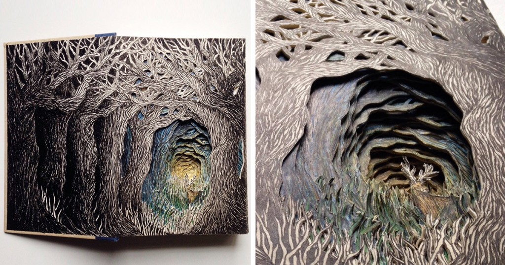 Artist turns books into mysterious dioramas lost in internet for How to write a craft book