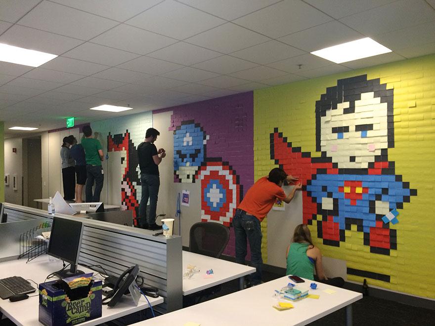 office-wall-post-it-superheroes-ben-brucker-02