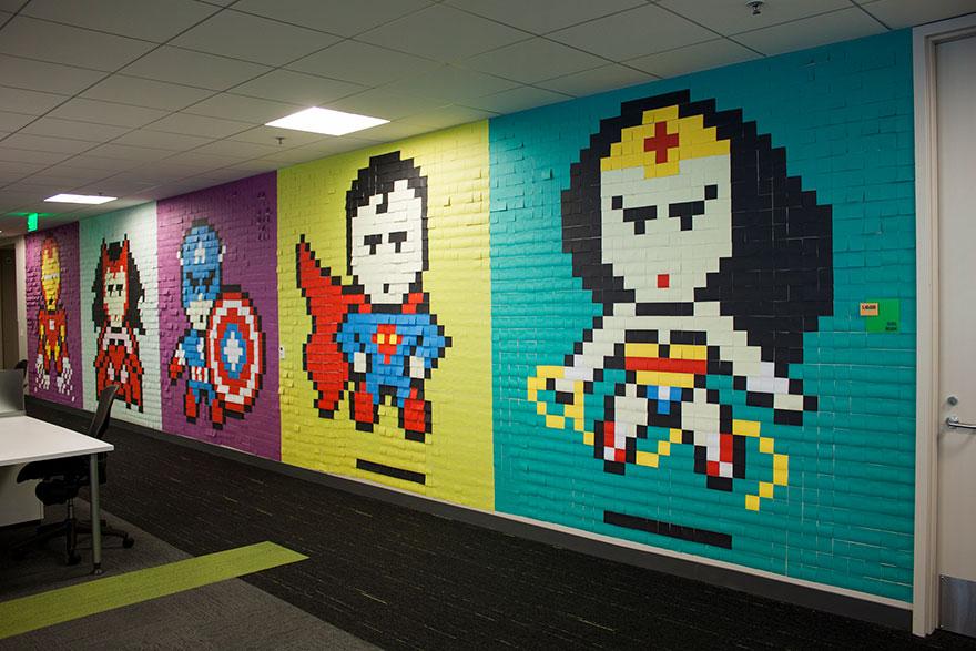 office-wall-post-it-superheroes-ben-brucker-08
