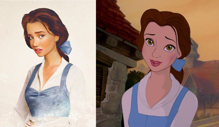 Disney Characters Real Life Belle Beautyandthebeast Beast 01