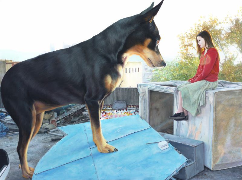 jeong_woo_girl_and_giant_dog_paintings_06