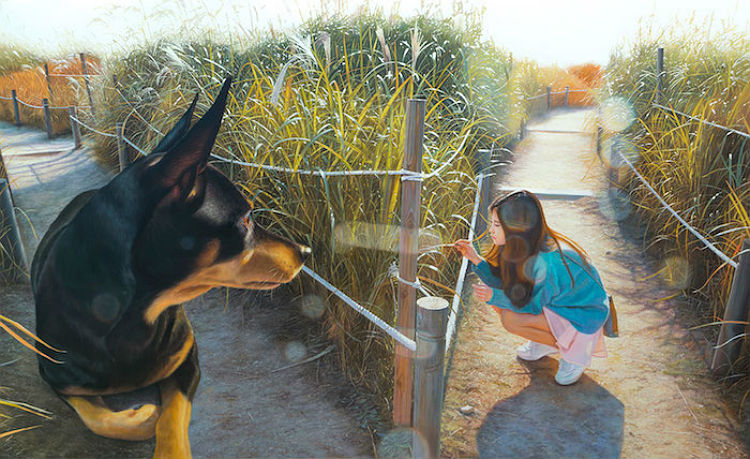 jeong_woo_girl_and_giant_dog_paintings_09