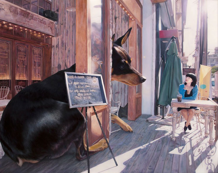 jeong_woo_girl_and_giant_dog_paintings_10