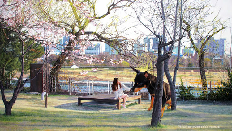 jeong_woo_girl_and_giant_dog_paintings_11
