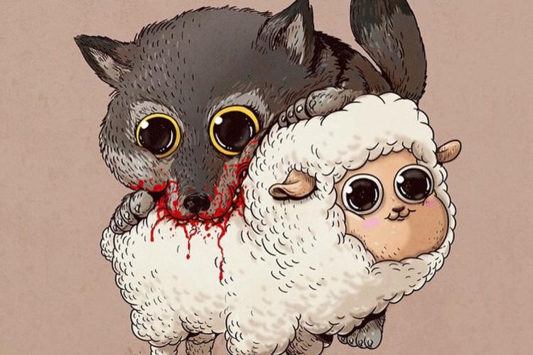 Adorable And Disturbing Reinterpretations Of Predators Their Preys