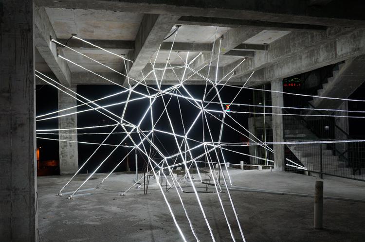 Massive Led Art Installation Lights Up Malaysian Town