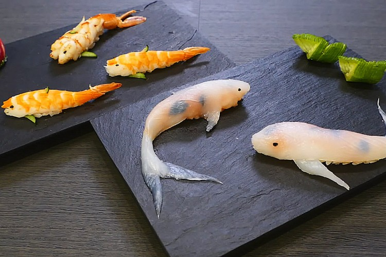edible art koi fish sushi lost in internet