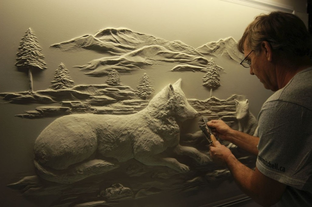 Amazing Wall Reliefs Created Using Drywall Joint Compound Lost In Internet