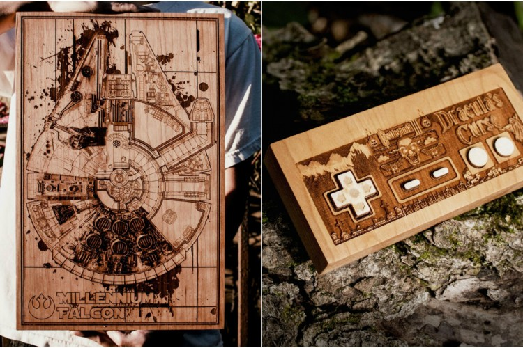 spitfire labs laser engraved wood plaques are nostalgic lost in