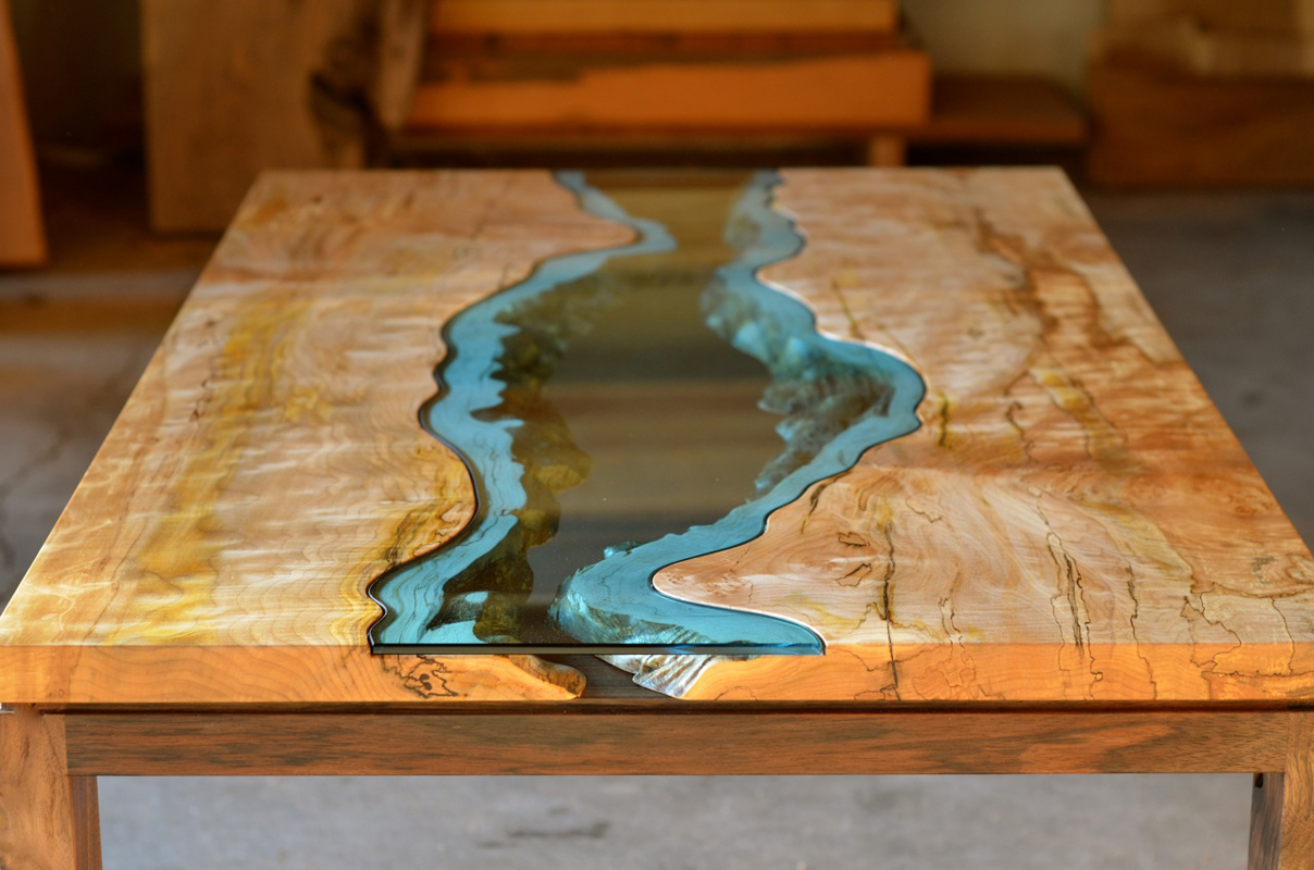 Lake and river adorned furniture of wood and glass lost for Furniture northwest